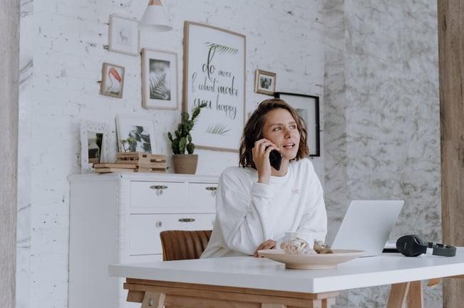Customer waiting on the phone