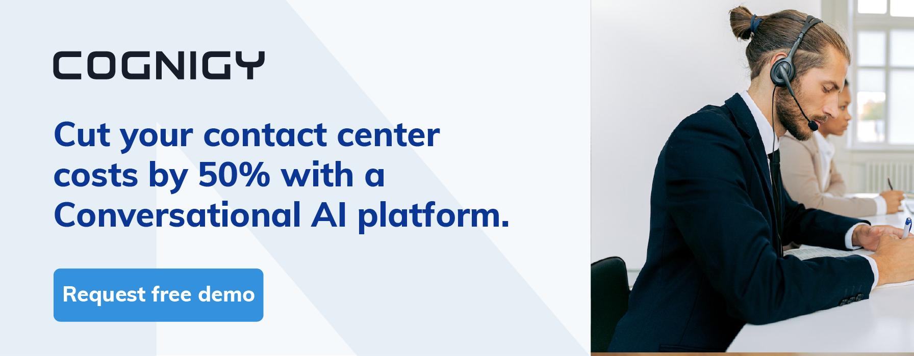 Cut contact center costs by 50% with Conversational AI