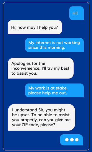 customer-agent conversation