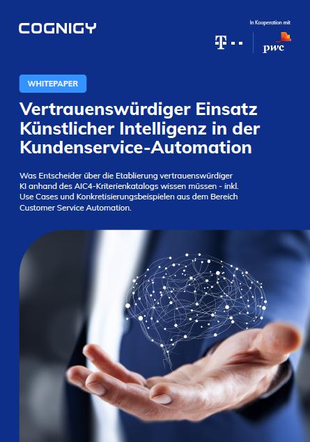 Trustworthy AI whitepaper cover DE